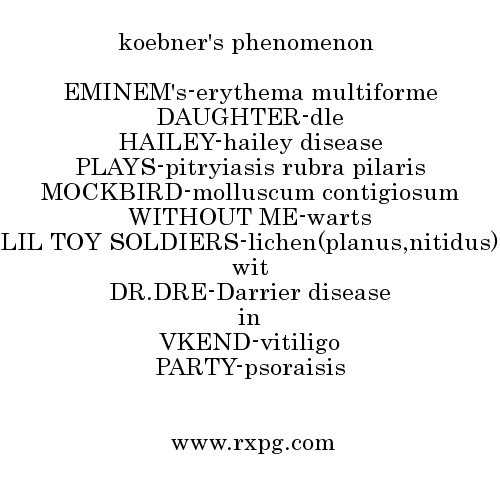 Koebner's Phenomenon Mnemonics